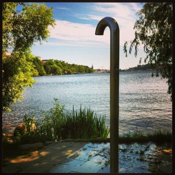 Platos de ducha para el exterior un capricho refrescante - Platos de ducha diseno ...