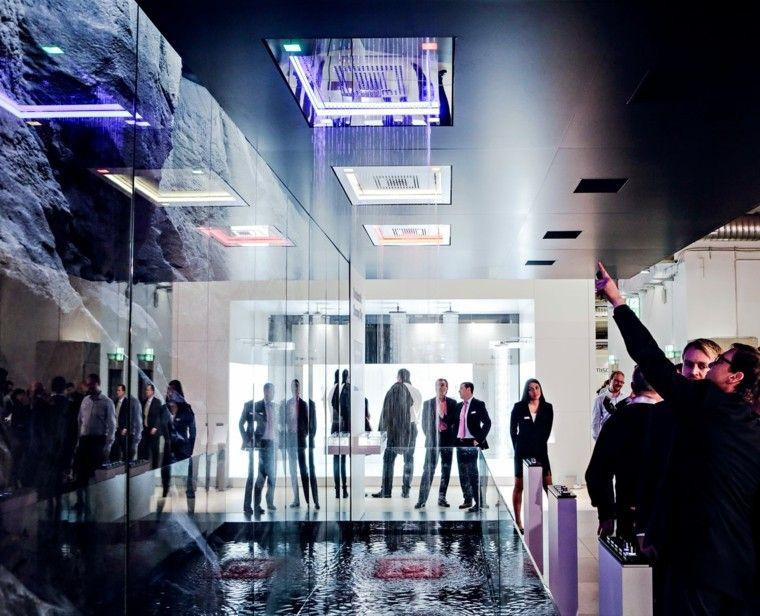 ducha demostracion luces diseño lanzamiento