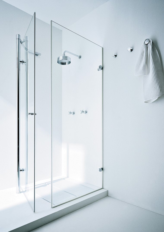 decoración baños ducha moderna idea baño estilo relax cristal