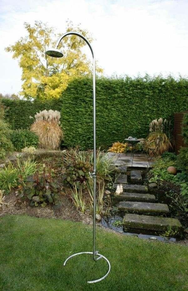 ducha móvil jardín metal estanque