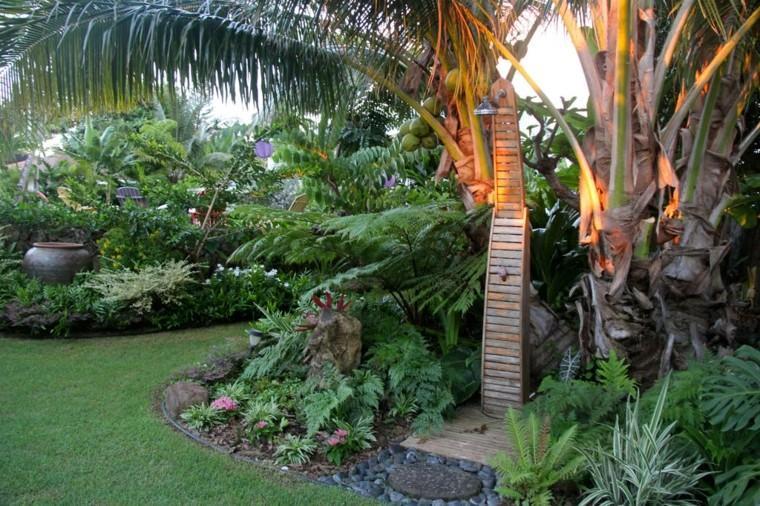 duchas para exteriores palmeras luces cococtero