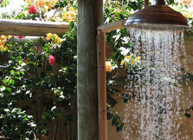 duchas para exteriores tropical estilo flores