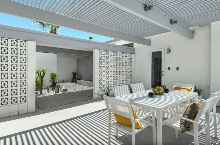 el retiro mereces patio pergola ideas blanco moderno
