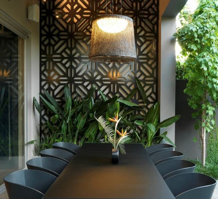 el retiro muebles color negro plantas patio ideas