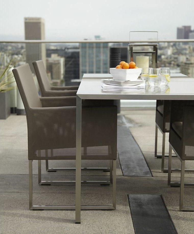 el retiro patio muebles estilo elegante moderno ideas