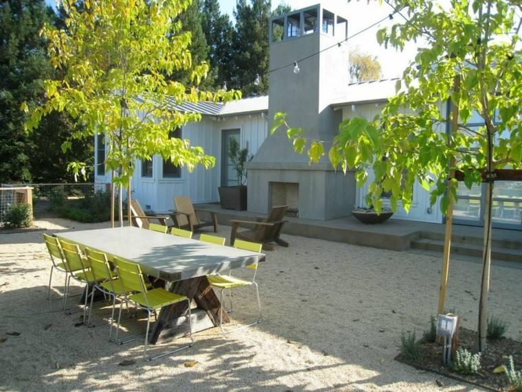 el retiro sillas verde vibrante ideas patio moderno