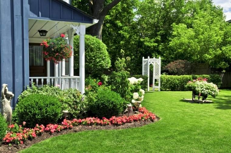 el tiempo bueno jardin cesped plantas color verde