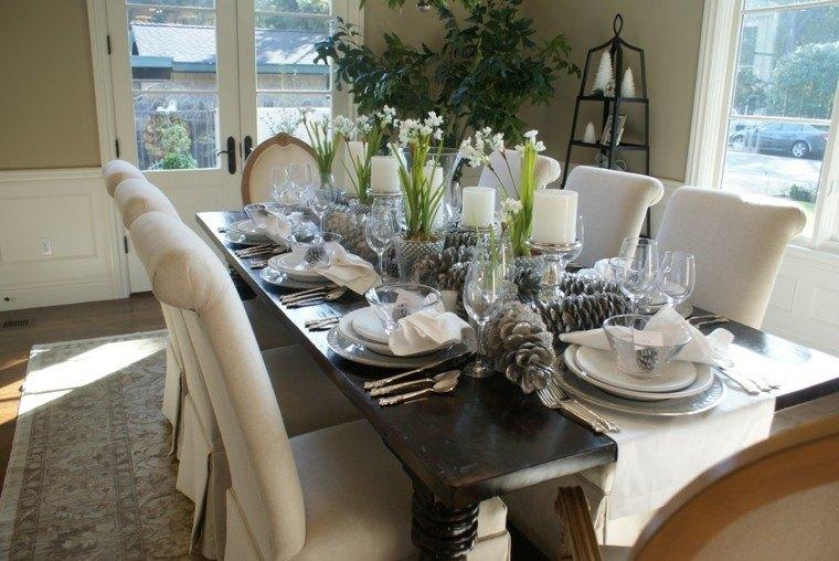 elegante mesa diseño ventanas flores velas