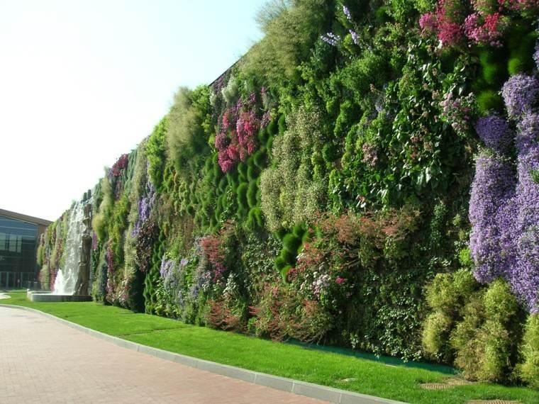 enorme jardin vertical ideas espacios aire libre ideas
