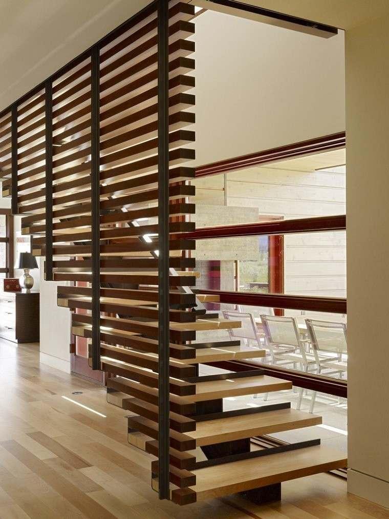 escalera listones moderno diseño listones
