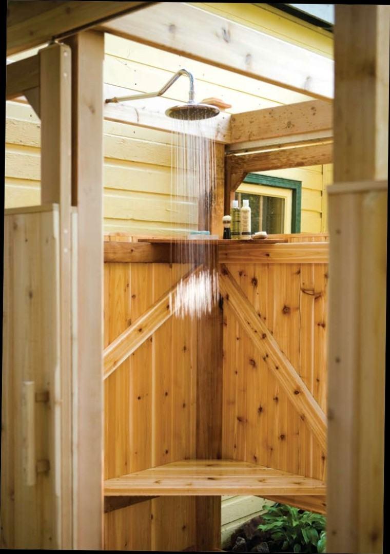 espajo exterior ducha plantas madera