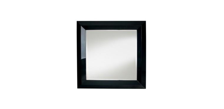 espejo modelo bronx negro cuadrado