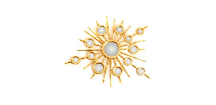 espejo sol modelo apollo dorado
