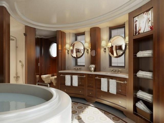 espejos bañera madera toallas bañera masaje