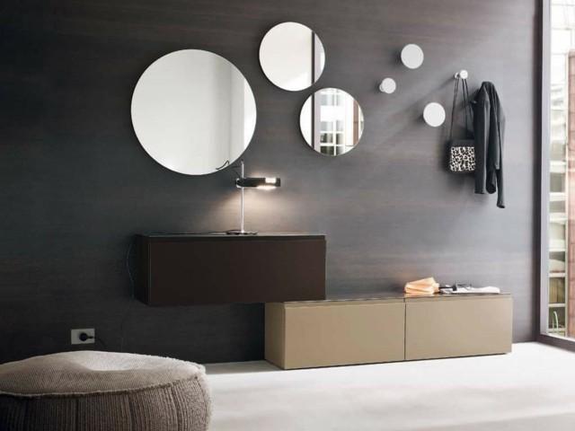 espejos redondos diseño tamaños ideas