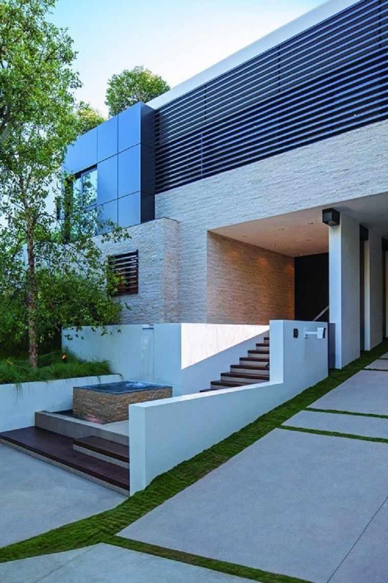 estanque casa moderno diseño escalones