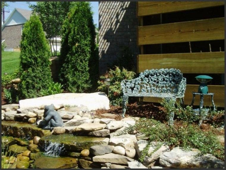 estanque piedras agua jardin oriental