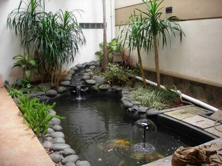 estanque estilo zen koi patio