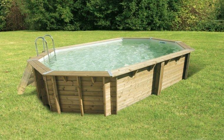 Piscinas para jard n un oasis en tu hogar for Houten zwembad bouwen
