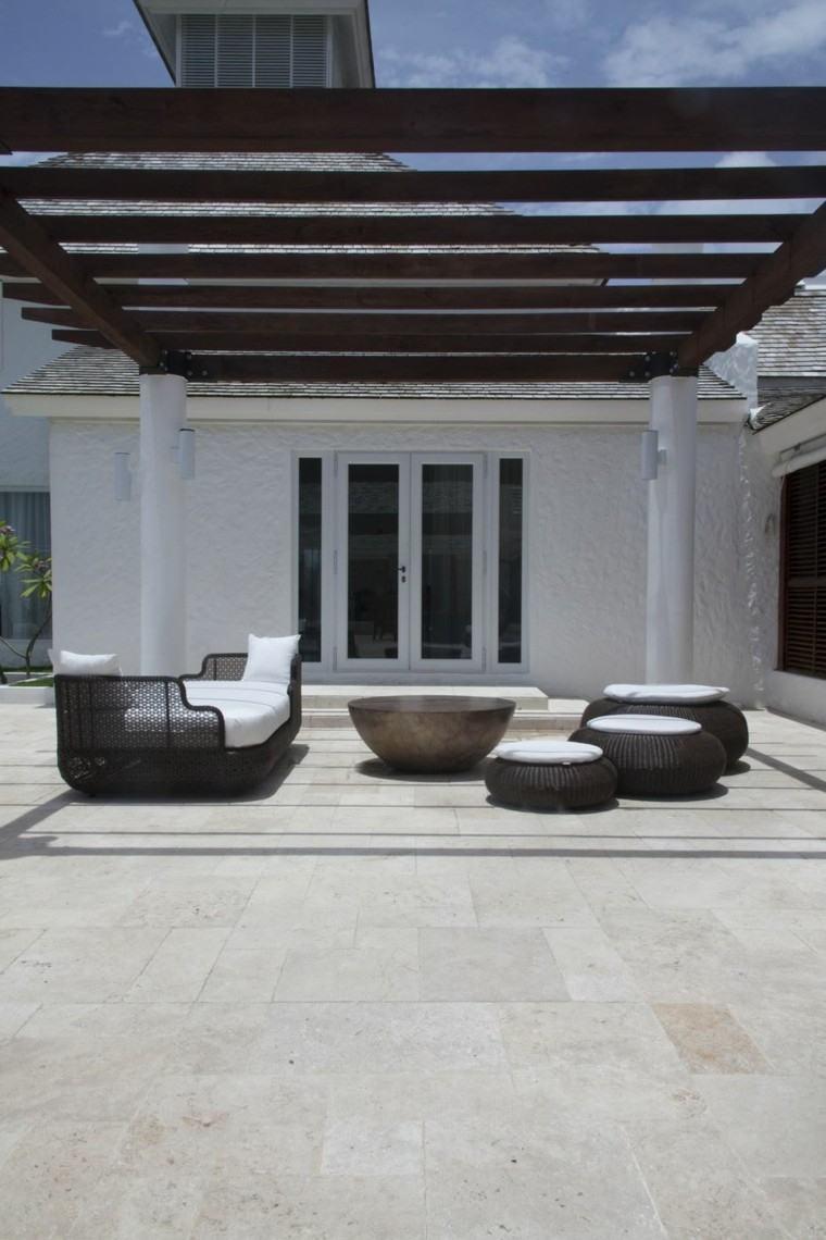 estilo minimalista jardin pergola ideas bonitas modernas