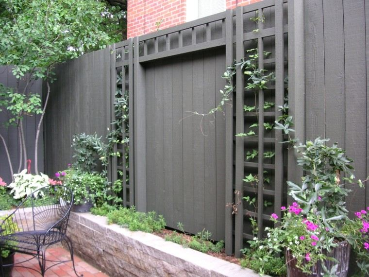 estilo jardin rejas plantas ideas negro bonito