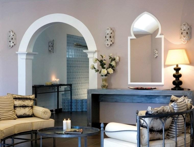 estilo marroqui salon velas blanco ideas