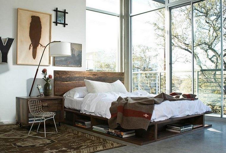 estilo moderno industrial dormitorio cabecera ideas