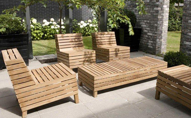 estilo rustico jardin mesa teca ideas madera