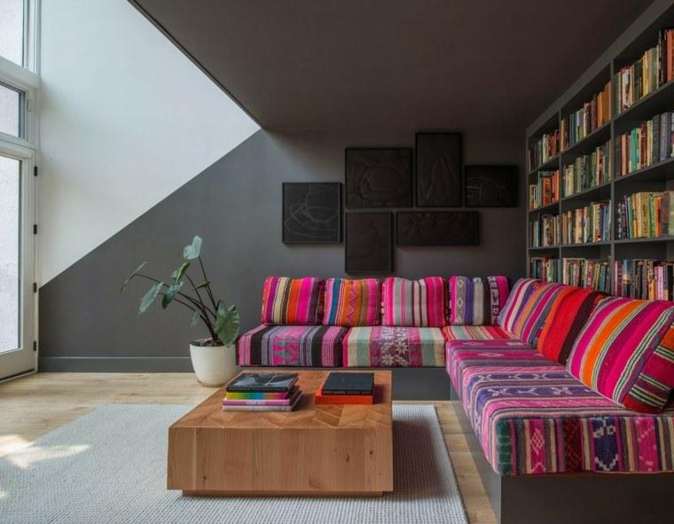 estilo sofa oriental ideas moderno colores vibrantes