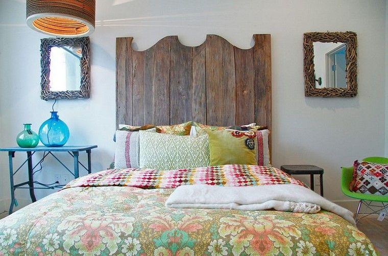 estilo vintage dormitorio cabecera cama ideas modernas