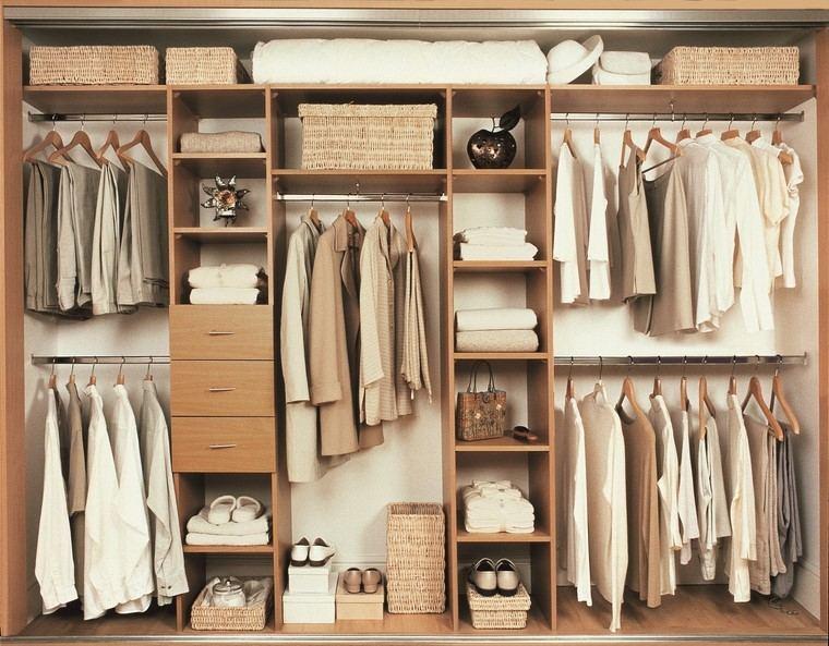 estilo vintage madera armario moderno abierto