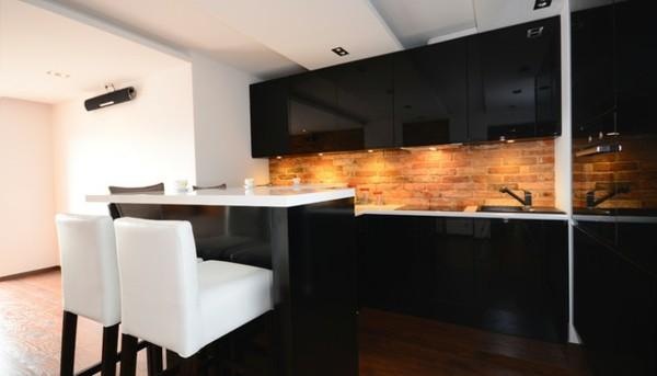 Cocina negra y rosa dise os arquitect nicos for Cocina roja y negra