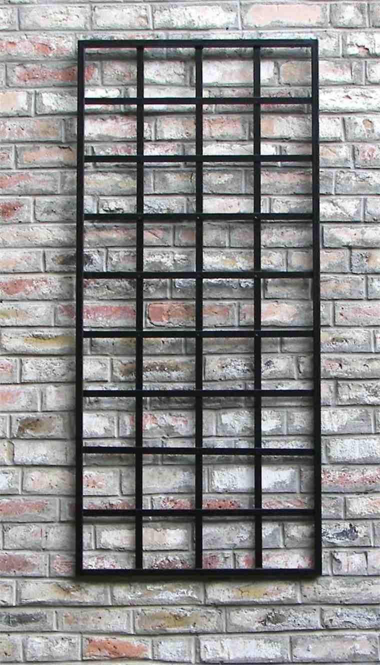 estructuras metalicas cuadrícula pared