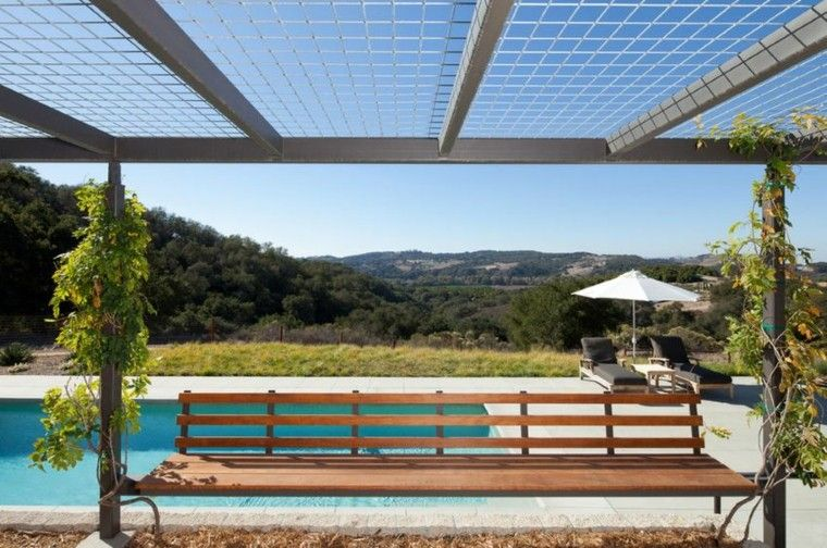 Estructuras metalicas enrejadas para exteriores for Terrazas metalicas
