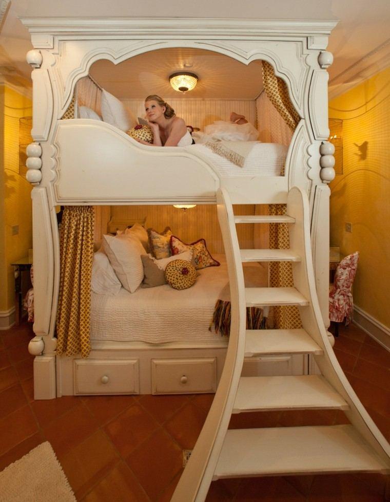 estupenda cama princesa blanca cuento