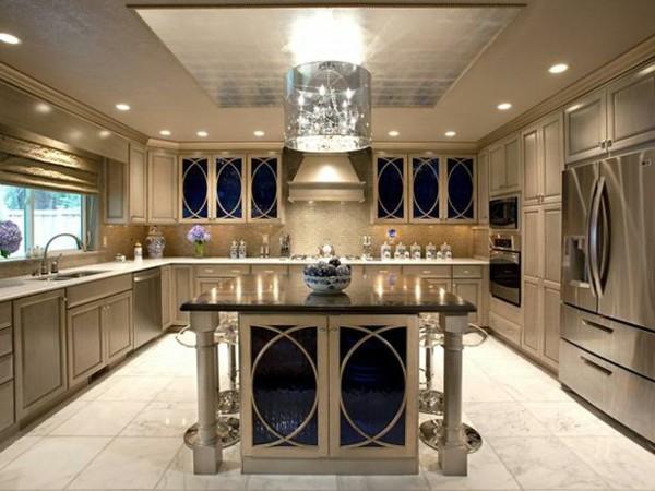 estupenda cocina lujosa clásica lámpara