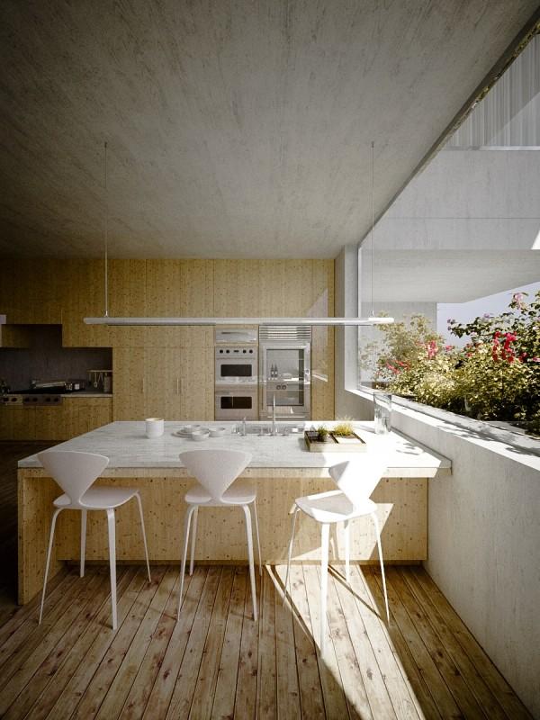 estupenda cocina madera comedor terraza