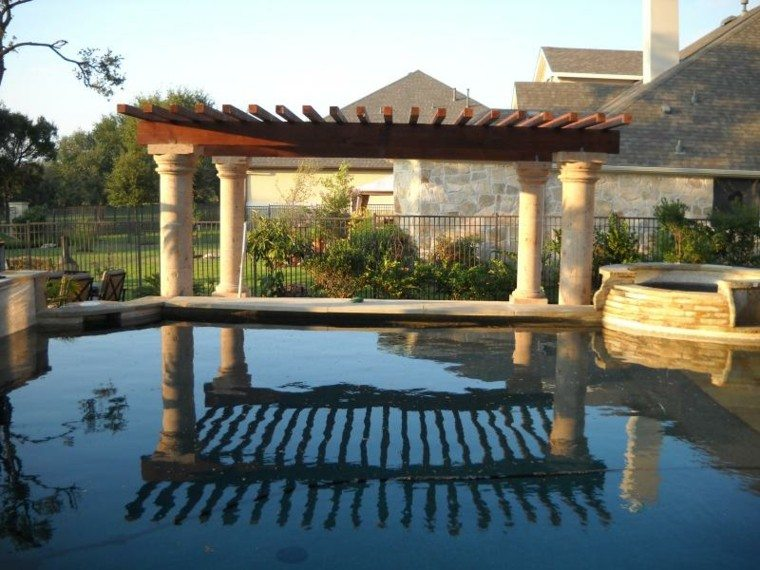Pergolas jardin de madera una zona de recreo ideal for Pergolas para piscinas