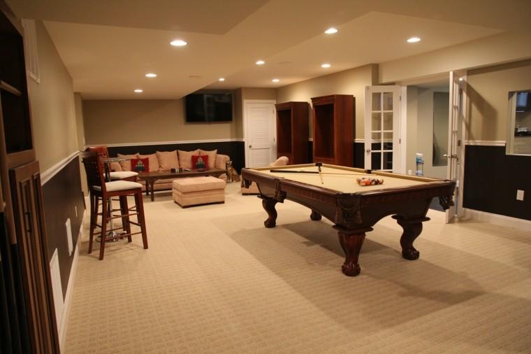 estupenda sala estar mesa billar