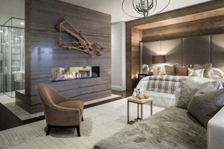 estupendo cuarto soltero pared madera
