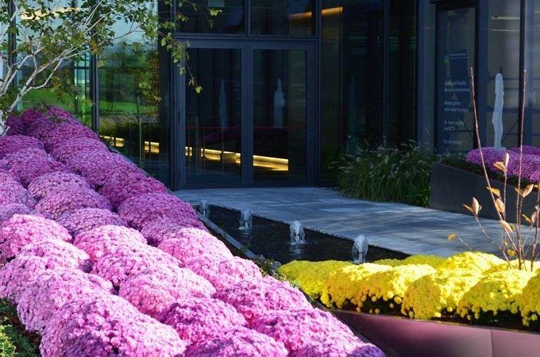 estupendo diseño arquitectura jardín nivelado