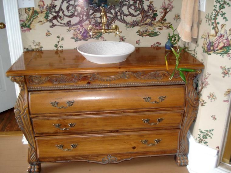 Lavabos Con Mueble Baratos Mueble De Bao Micro Blanco Brillo Cm