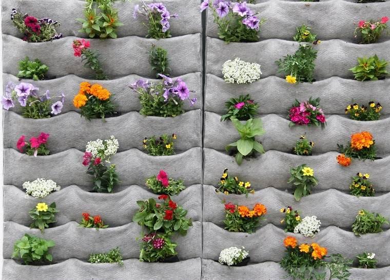 estupendo muro hormigón jardinera vertical