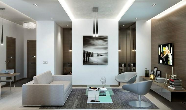 Sala de estar para apartamento de soltero todo un lujo - Salones muy modernos ...