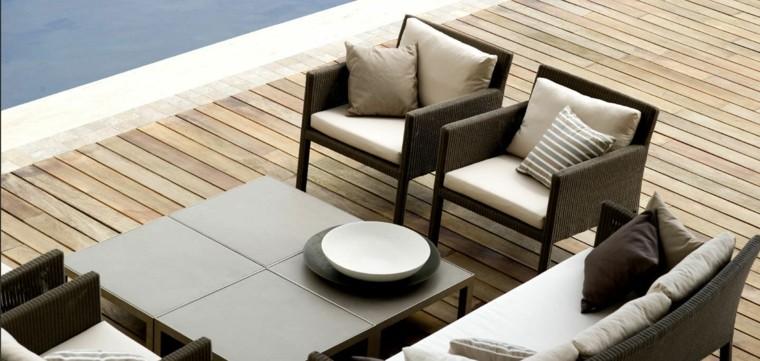 exterior decoracion piscina muebles mesa
