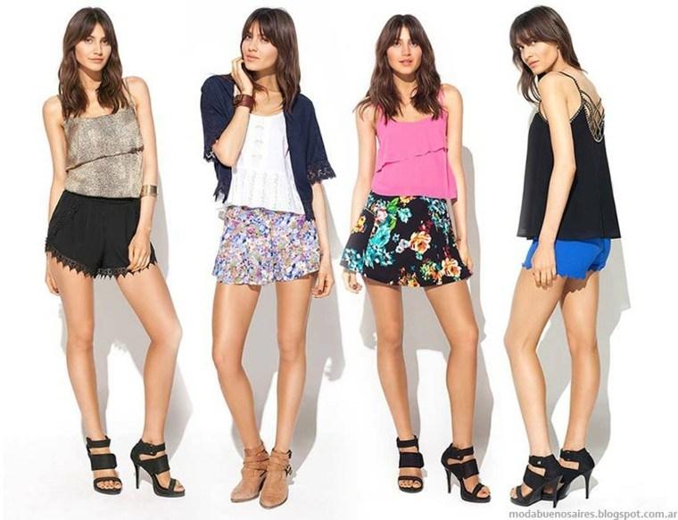 faldas shorts cortos look primavera