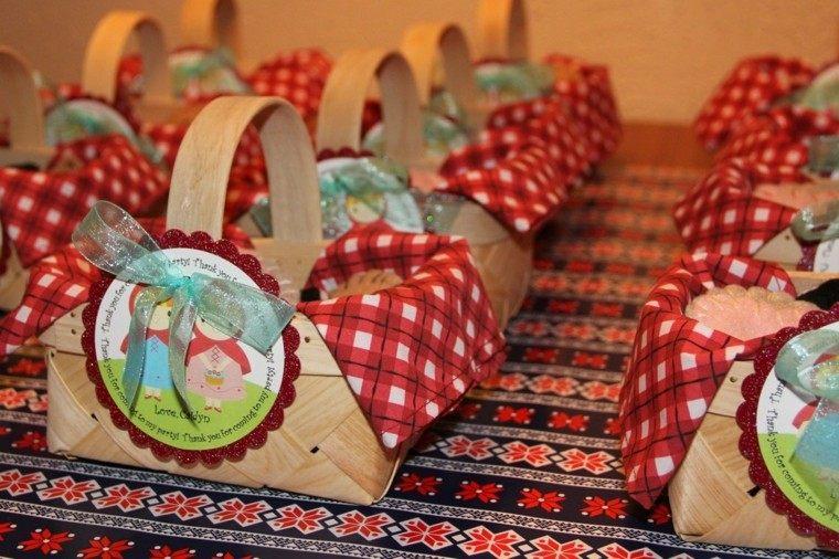 fiesta cumpleanos ideas cestas motivos rojas regalos