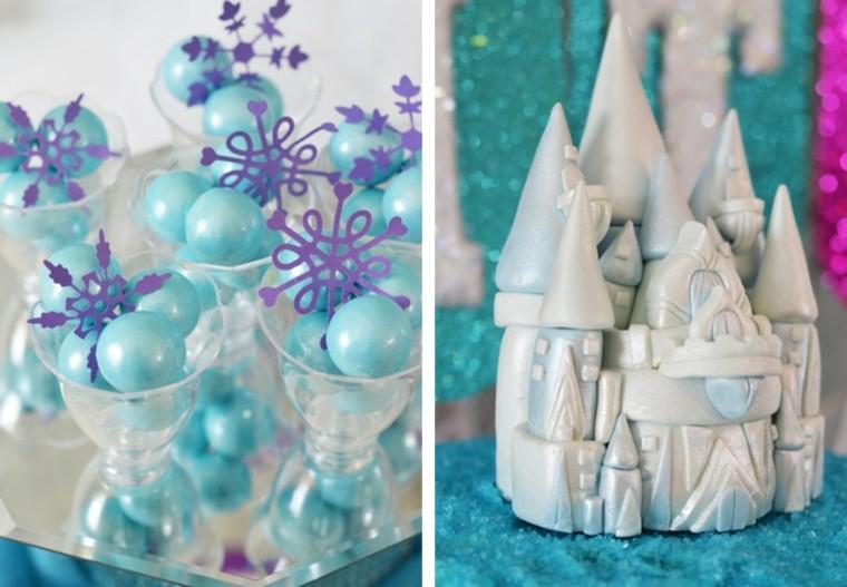fiestas cumpleanos ideas azul chicas invierno