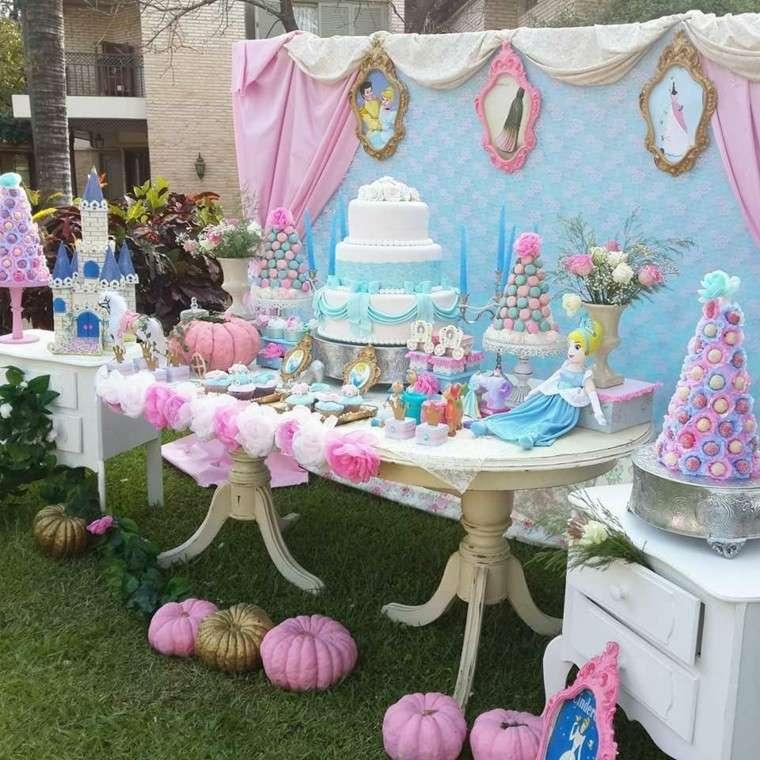 fiestas cumpleanos temas princesas disney cenicienta ideas