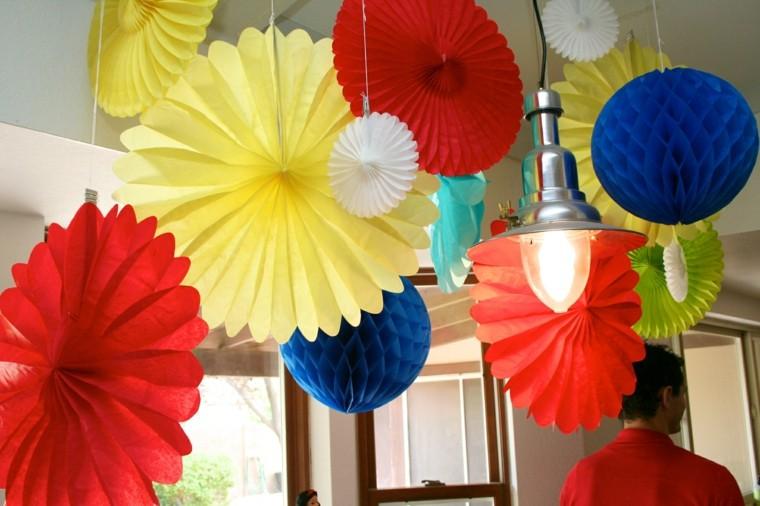 fiestas infantiles decoracion colgando techo bonito
